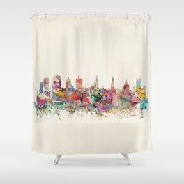 leeds united kingdom Shower Curtain