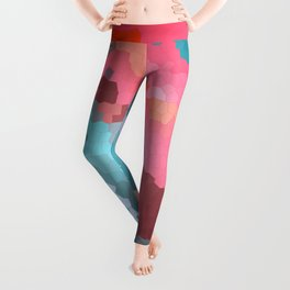 Abstract geometric background with squares Leggings