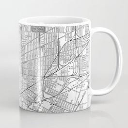 Vintage Map of Buffalo New York (1891) BW Coffee Mug