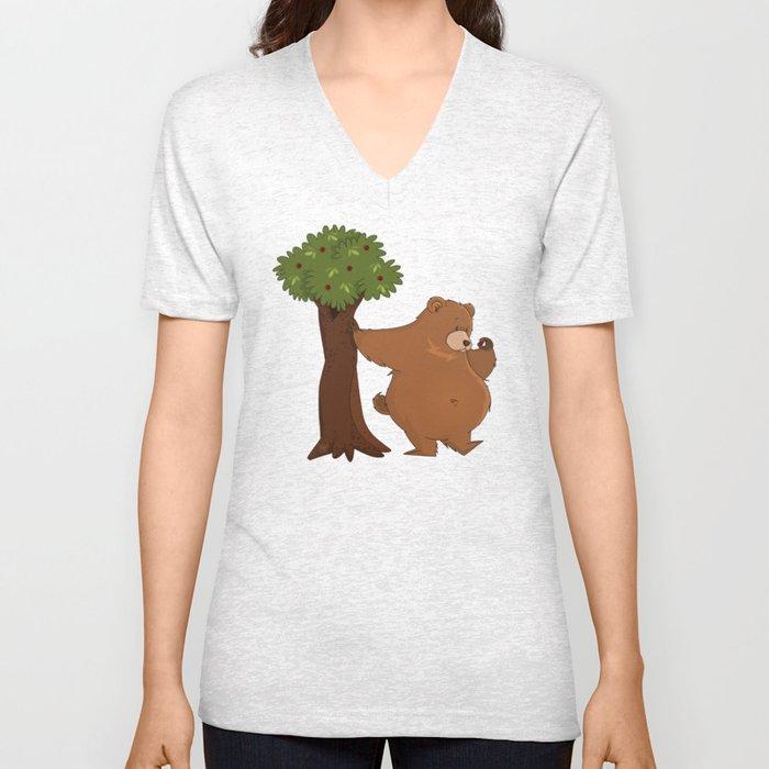 Bear and Madrono Unisex V-Neck