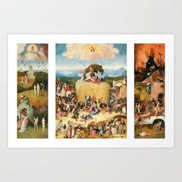 The Haywain Triptych by Bosch 1519 Art Print