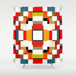multicolored spatial geometric shellycoat Shower Curtain