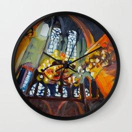 Chandelier in Notre Dame Wall Clock