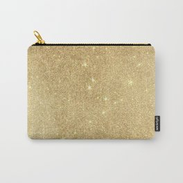 Elegant stylish faux gold glitter Carry-All Pouch