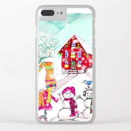 Snowgirl Clear iPhone Case