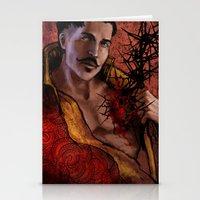 """dragon age inquisition Stationery Cards featuring Dragon Age Inquisition - Dorian Pavus - Thorn by Barbara """"Yuhime"""" Wyrowińska"""