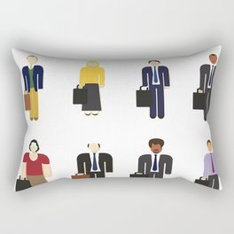 The Office Characters Rectangular Pillow