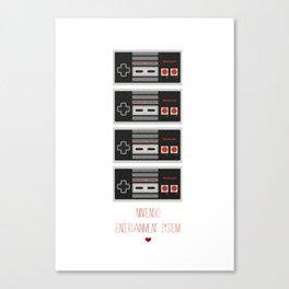 I Heart Nintendo Canvas Print