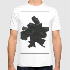 Black paper rose White MEDIUM Mens Fitted Tee