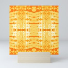 Satin Shibori Yellow Mini Art Print