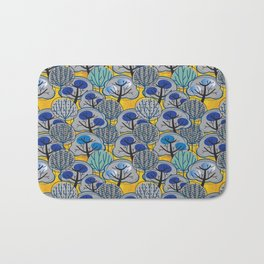 Trees in Gold Bath Mat