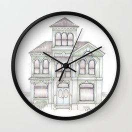 Green Italianate Victorian Wall Clock
