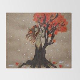 Fall Dryad Throw Blanket