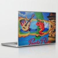 puerto rico Laptop & iPad Skins featuring Puerto Rico Oil painting Prints  by Huesca Arts by Yolanda Huesca