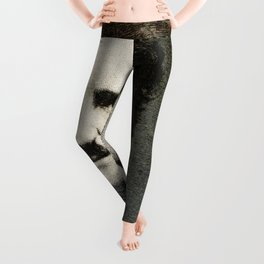 Edgar Allan Poe Engraving Leggings