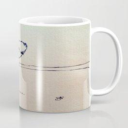 Curious Bird Ink Drawing Coffee Mug