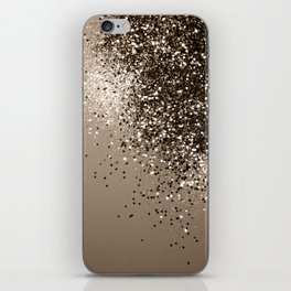 Sparkling Sepia Lady Glitter #1 #shiny #decor #art #society6 iPhone Skin