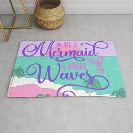 Be A Mermaid Make Waves Rug