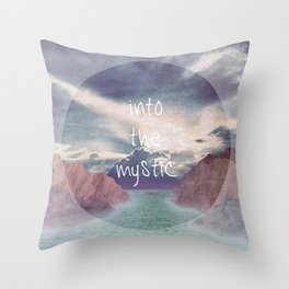 Into the Mystic (ANALOG zine) Throw Pillow