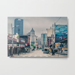 Pittsburgh City View From Strip District Metal Print
