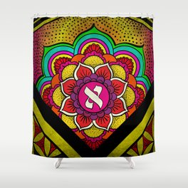 Sacred Geometry for your daily life - ALEPH KYBALION EYE Shower Curtain