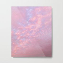 Cotton Candy Cloud Cover Metal Print