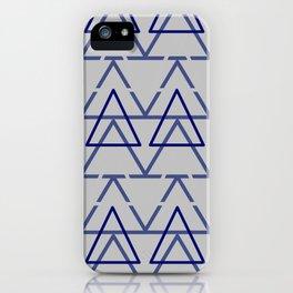Blue Grey Geometric Pyramid  iPhone Case