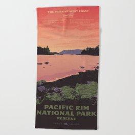 Pacific Rim National Park Reserve Beach Towel