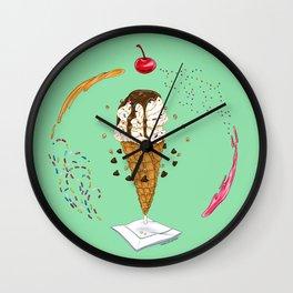 Ice Cream Mandala Wall Clock