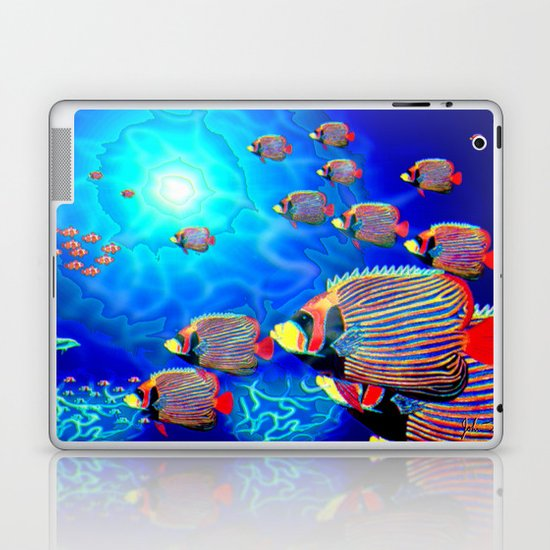 Deep Blue Laptop & iPad Skin