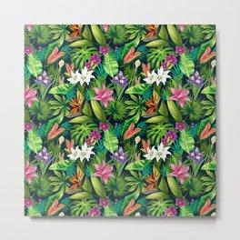 Tropical Lush Sanctuary, A Bohemian Paradise Metal Print