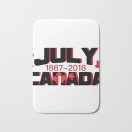 Canada Maple Leaf Vintage Retro 151 Years Bath Mat
