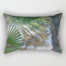 Creeping Crocodile Rectangular Pillow