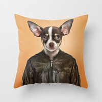 chihuahua Throw Pillows featuring Chihuahua  by Life on White Creative