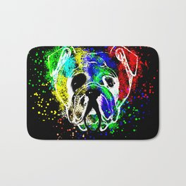 Bulldog,dog illustration Bath Mat