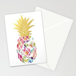 Preppy Pineapple Stationery Cards