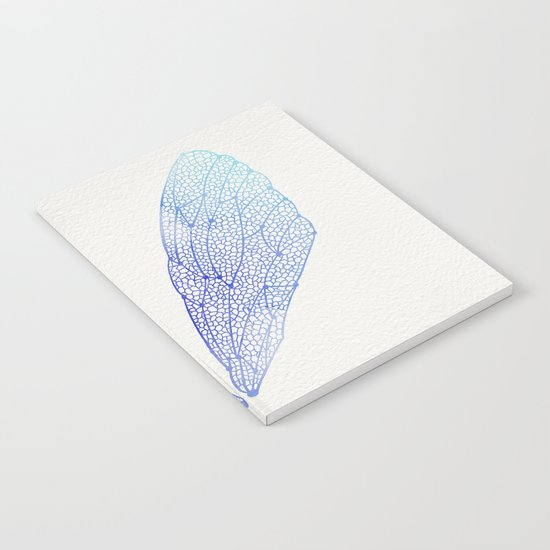 Periwinkle Ombré Cicada Wings Notebook