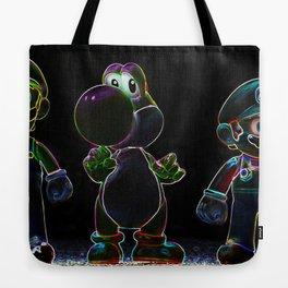 Luigi, Yoschi and Mario Tote Bag