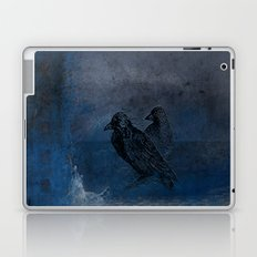 Two little crows blue sky dark night Laptop & iPad Skin