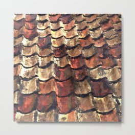 Terra Cotta Roof Tiles Metal Print