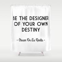destiny Shower Curtains featuring Destiny by I Love Decor