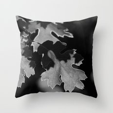 Sunlit Oak Leaf Throw Pillow