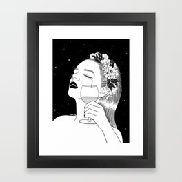 Cheers for tears Framed Art Print