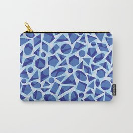 Blue Abstract Geometric Pattern Carry-All Pouch