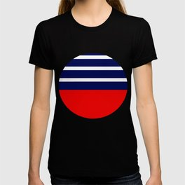 Summer Patio Perfect, Red, White & Navy T-shirt