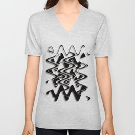 Abstraction in black and white CB Unisex V-Neck