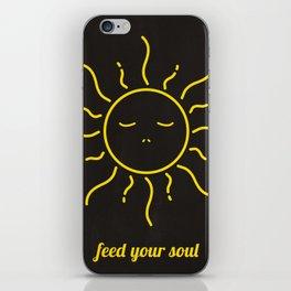 feed yor soul iPhone Skin