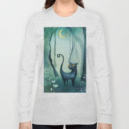Cat in the forest Long Sleeve T-shirt