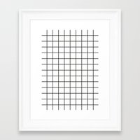 grid Framed Art Prints featuring GRID by Anna Lindner