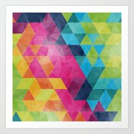 Fragmented folds Art Print